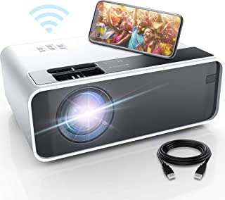 Mini Projector for iPhone, ELEPHAS WiFi Movie Projector with Synchronize Smartphone Screen, 1080P HD Portable Projector Su...