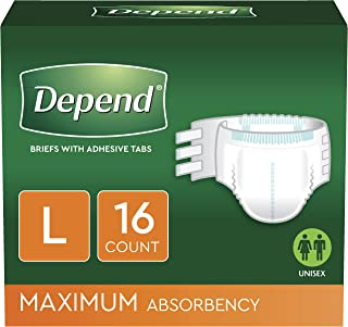 Depend Protection with Tabs, [Large], Maximum Absorbency, 16-Count Package