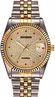 Fanmis Luxury Women's Wrist Watch Gold Quartz Watch Two Tone Stainless Steel Watch