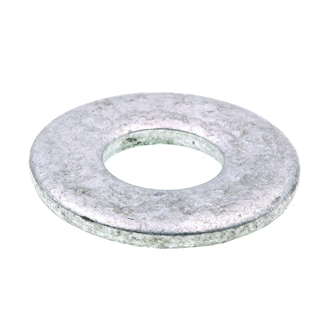 Prime-Line 9080084 Flat Washers, USS, 3/8 in. X 1 in. OD, Hot Dip Galvanized Steel, 100-Pack