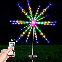 Outdoor Solar Vuurwerk Starburst Lights 112 LED Solar Fairy Starry Garden Meteor Lights met Remote 8 Modes Zonne aangedrev...
