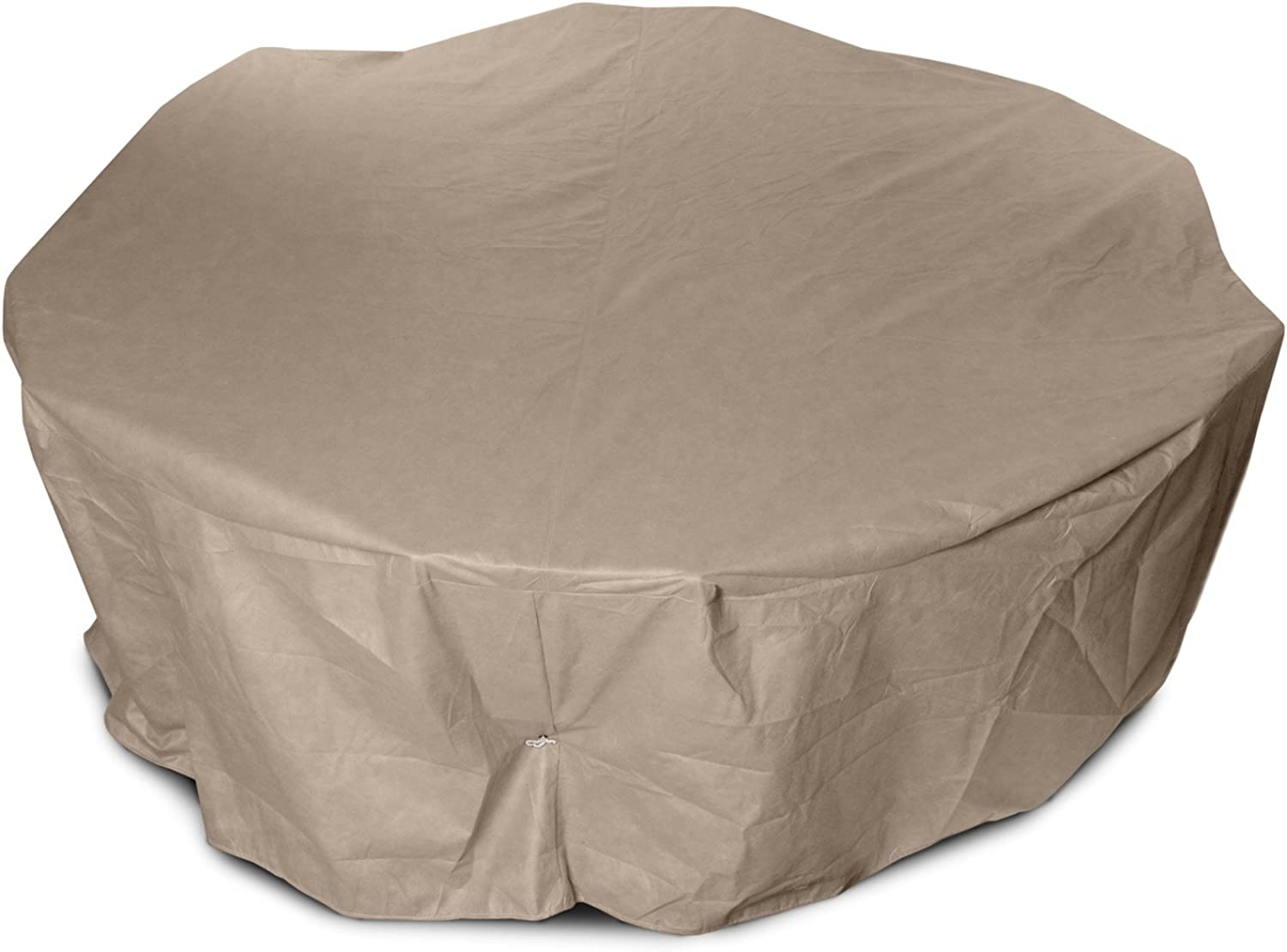 KoverRoos III 31162 54-Inch Round Table High Back Dining Set Cover, 88-Inch Diameter by 36-Inch Height, Taupe