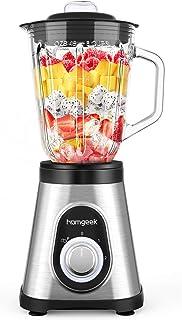 homgeekミキサー ブレンダー ジューサー スムージー 氷も砕ける 野菜&果物 コンパクト 1.5L大容量 700Wブレンダー 一台多役 ジューサー 人気