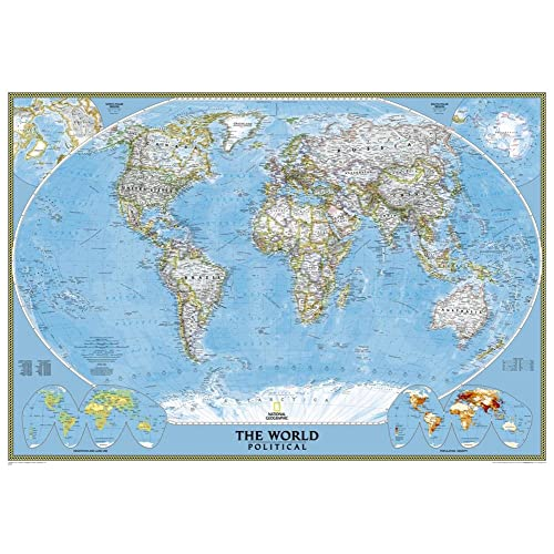 Amazon Com National Geographic World Classic Map Enlarged