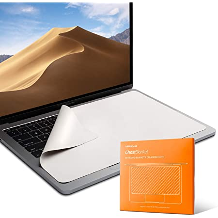 """UPPERCASE GhostBlanket Screen Keyboard Imprint Protection Microfiber Liner and Cleaning Cloth 15"""" Compatible with MacBook Pro 15"""" and 16"""""""