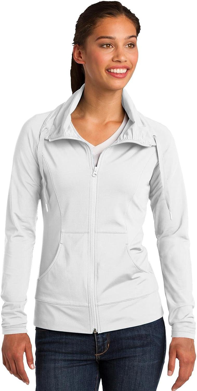 SportTek Women's Sport Wick Stretch Full Zip Jacket