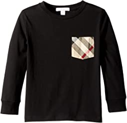 Burberry Kids - Long Sleeve YNG Tee (Little Kids/Big Kids)