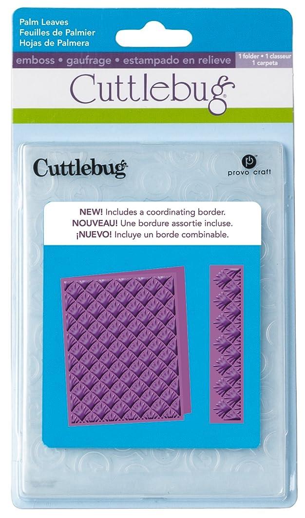 Cuttlebug A2 Embossing Folder, Palm Leaves