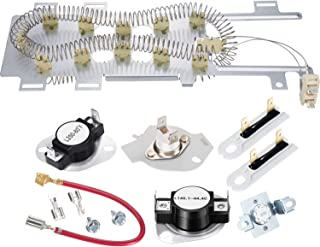 8544771 Dryer Heating Element, 279973 3392519 Thermal Fuse and 279816 Thermostat Dryer Replacement Kit Compatible with Maytag, Kenmore and More
