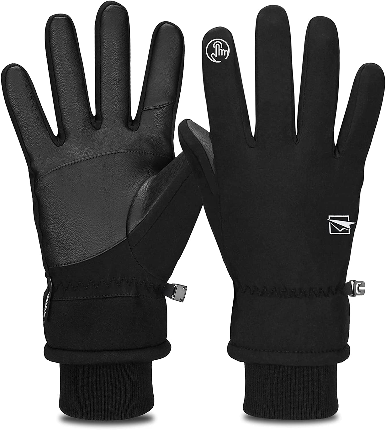 COMENOLE Winter Gloves, -30°F Cold Weather Gloves Touch Screen Thermal Gloves Windproof Warm Gloves Men Women