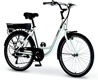 AZBO City Electric Bike for Adults 36V 250W Brushless Rear Hub Motor E-Bike, 26 inch Tire 20 MPH Motorized Bicycle with Removable Lithium Battery Shimano 7-Speed Gear