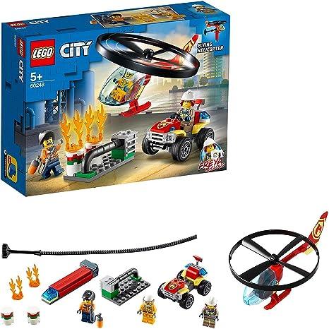 LEGO60248CityIntervencióndelHelicópterodeBomberosJuguetedeConstrucción