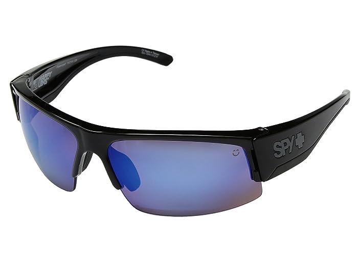 Spy Optic Flyer (Black/Happy Bronze Polar w/ Dark Blue Spectra) Fashion Sunglasses