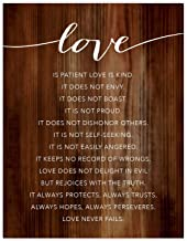 Andaz Press Christian Bible Verses 8.5x11-inch Wood Poster, Love Always Protects, Always Trusts, Always Hopes, Always perseveres. Love Never Fails. 1 Corinthians 13:4-8, 1-Pack