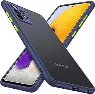 GESMA Hülle Kompatibel mit Samsung Galaxy A72, Hard Back und Soft Bumper Handyhülle, Schützen Sie die Kamera, Anti Kratzer, rutschfest, Rugged,Blau.