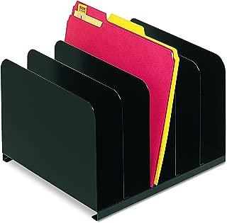 Steelmaster Vertical Organizer - 5 Compartment(S) - Steel - Black, 1 Each (2645004)