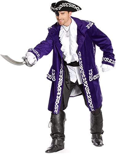 Deiters Jacke Pirat Herren lila Silber S