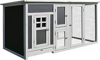Pawhut Gallinero Exterior Madera Integrado Bandeja Deslizante Extraíble Ventilación Fácil de Limpiar Casa para Gallinas Ja...