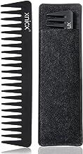 xnicx Negro Peine para desenredar Púas anchas, 100% antiestático 230 ℃ Resistente al calor peine para desenredar, no nudos de peine para desenredar, peinar peine peine Streaker