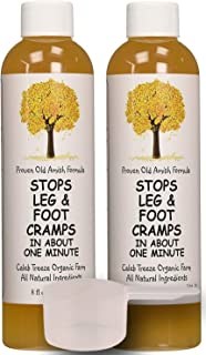 Caleb Treeze Organic Farms Stops Leg & Foot Cramps, 8 oz - 2 Pack with Bonus Measuring Scoop and Instructions