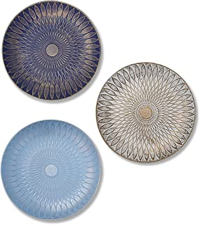 Art Street Multicolored Set of 3 MDF Decorative Wall Plates,Wall Decor Plates for Home & Office Decoration -Size-7.5x7.5 I...