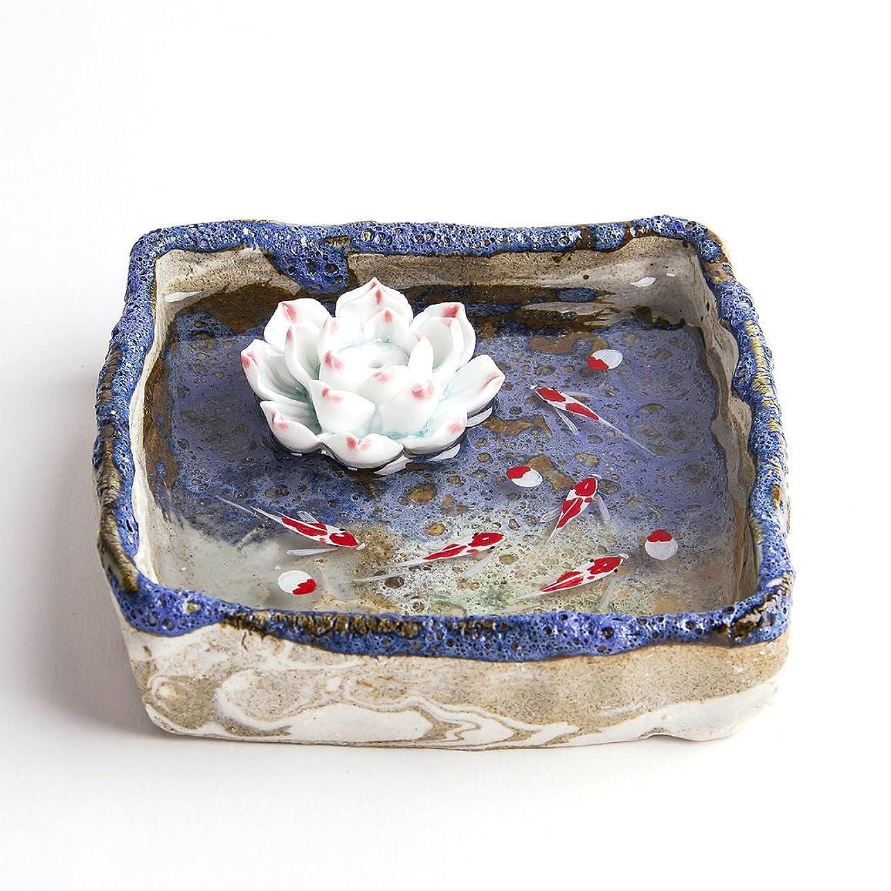 バングラデシュオンス依存するお香立て お香たて 香の器 お香を焚いて 香皿,陶磁器、ブルー