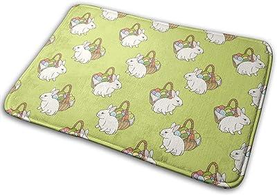 Easter Eggs Rabbit Carpet Non-Slip Welcome Front Doormat Entryway Carpet Washable Outdoor Indoor Mat Room Rug 15.7 X 23.6 inch