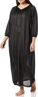 فستان سهرة حريري للنساء من AmeriMark - فستان طويل الأكمام مع ربطة عنق مكشكش