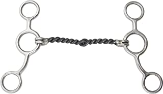 Barn& Stable 7495-0-0 SS Gag Sweet Iron Twisted Snaffle Mouth BIT
