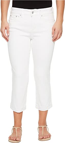 NYDJ Petite Petite Capris w/ Released Hem in Optic White