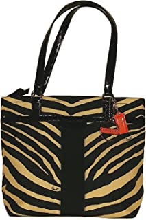 Coach Signature Zebra Print Tote Shoulder Bag 23283