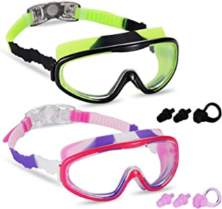 2 Pack Kids Swim Goggles, Swimming Glasses for Children from 3 to 15 Years Old