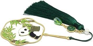 Segnalibro libri nappa perla panda bambù giappone ottone resina regali personalizzati regalo di natale anniversario cerimo...
