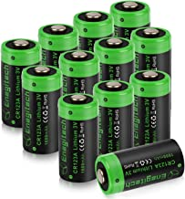 Enegitech CR123A Lithium Battery 3V Arlo VMS3230 Batteries 1600mAh with PTC Protection for Polaroid Photo Camera Flashlight Torch Microphones -12 Pack(Don't Recharge Them)