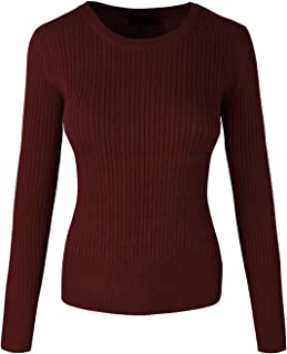 makeitmint Women's Round or V-Neck Twisted Cable Knit Pullover Sweater [S-3XL]
