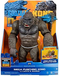 "PlayMates Monsterverse - Godzilla vs. Kong - Mega Punching Kong - 13"" Action Figure with Lights and Sounds (ID35581)"