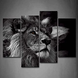 Black And White Lion Head Portrait Wall Art Painting Pictures Print On Canvas Animal The Picture For Home Modern Decoration