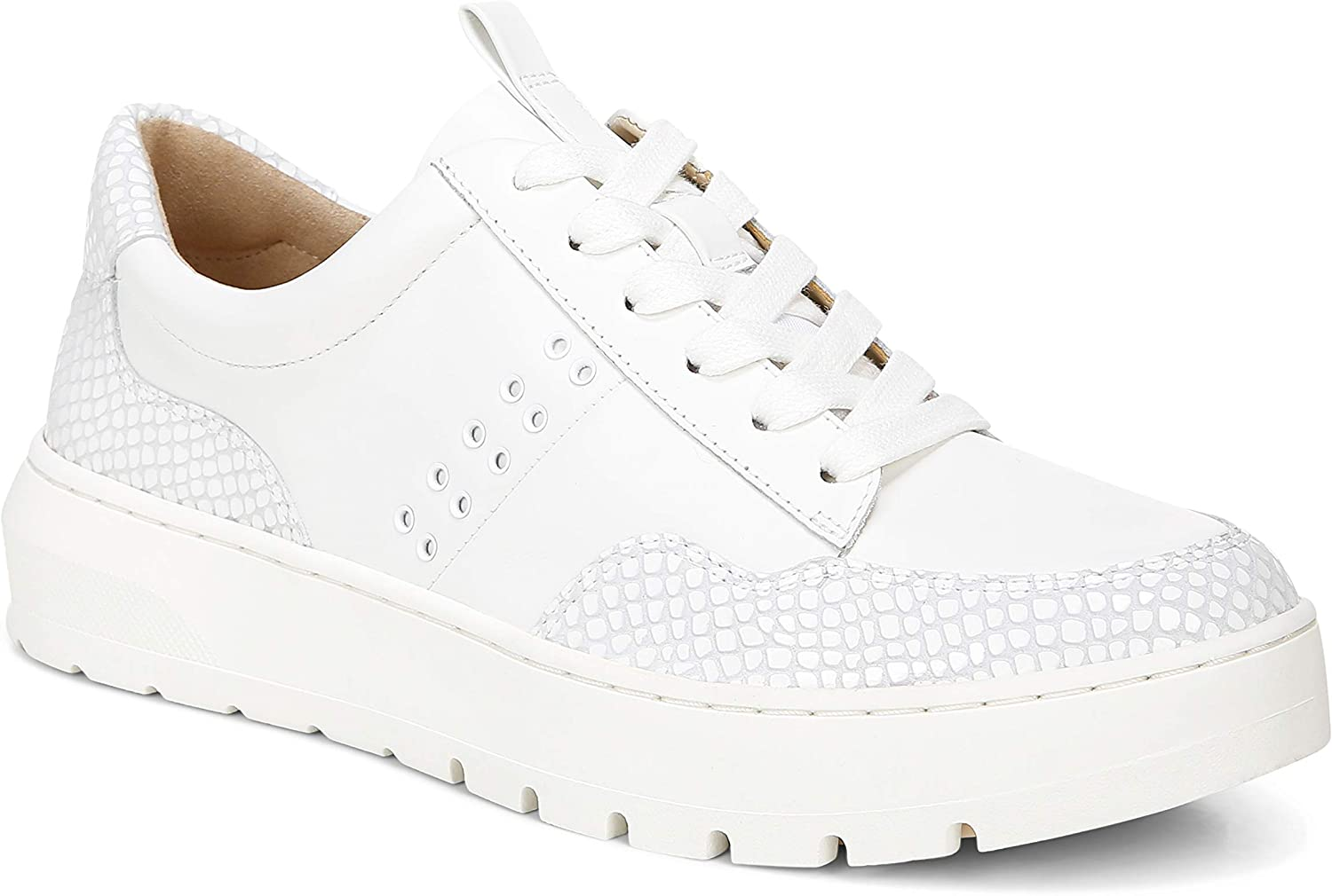 Vionic Women's Abyss Ysenia Platform Sneaker- Lace Up Casual Sneakers with Concealed Orthotic Arch Support