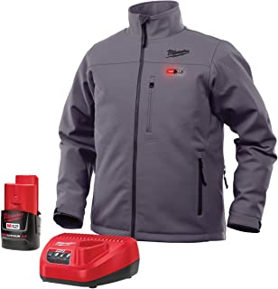 Milwaukee M12 Heated Jacket Kit - Battery and Charger Included (Medium, Gray)