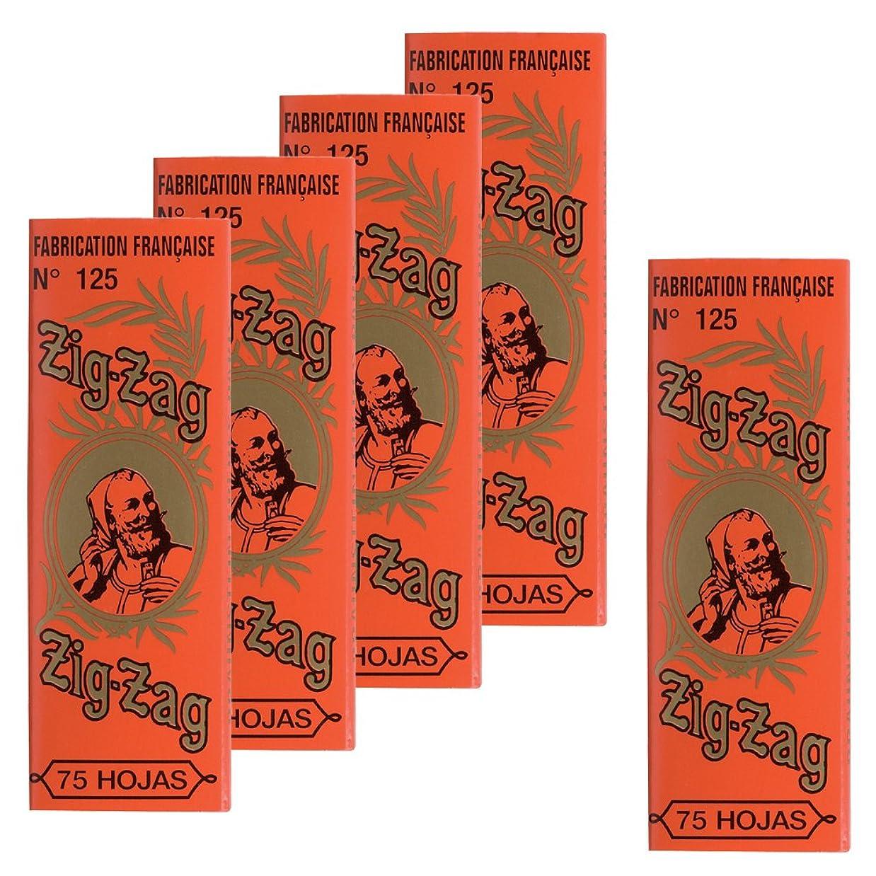 喜んでドループシーケンス柘製作所(tsuge) ジグザグ クラシックオレンジ 1 1/4 【スローバーニング ? 75枚入り】 #78836 ×5パック
