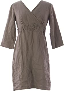 Women's Shirred Waist Laidback Dress Taupe