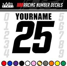 3 Custom Dirt Bike Race Number Stickers Digital Camo Racing Decals #CNP007
