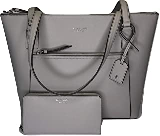 Kate Spade Cameron Pocket Tote WKRU5841 bundled with matching Large Continental Wallet (Soft Taupe)