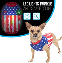 K9 Casuals Dog Christmas Costume with Lights   Light Up Christmas Dog Clothes   Dog Christmas Outfit