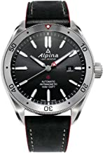 Alpina Men's Alpiner 4 Stainless Steel Automatic-self-Wind Watch with Leather Strap, Black, 22 (Model: AL-525BS5AQ6)