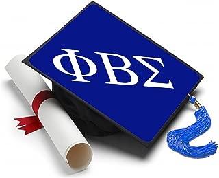 Phi Beta Sigma Graduation Cap Hat Topper Decoration Fraternity 8.5 x 8.5 Inch Blue