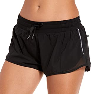 CRZ YOGA Women's Quick-Dry Workout Running Shorts Sports Gym Athletic Shorts with Pocket - 2.5 Inches