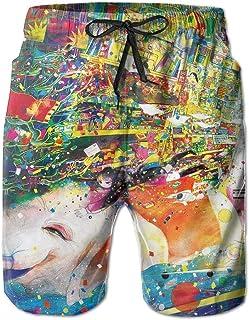Fish Fashion Beach Board Shorts Casual Surfing Running Classic-Fit Lightweight Beachwear Cargo Pants Print Swim Trunks/Â \r\n/Â