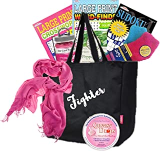 Just Don't Send Flowers A Little Queasy Fighter Cancer Gift Basket for Women/Breast Cancer/All Cancers/Chemo Gift