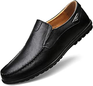 Genuine Leather Mens Moccasin Shoes Men Flats Breathable Casual Loafers Comfortable Shoes